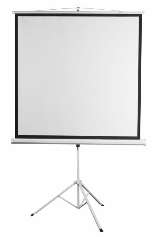 2E Екран на тринозі, 1:1, 96″, (1.72*1.72 м)